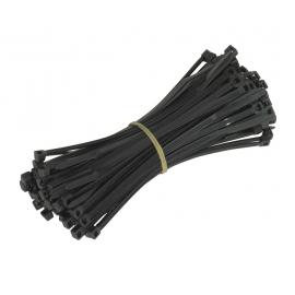 BCT150 Hyperline Стяжки для кабеля черные с защитой от ультрафиолета 150x2.5 100шт
