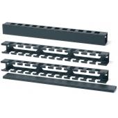 CM-1U Hypernet Менеджмент кабеля 1U с крышкой для шкафа или стойки, металл