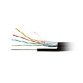 FTP4-C5E-SOLID-SW-OUTDOOR-2451-CCA   Hypernet Кабель внешний с тросом экран FTP CCA 5E 0.5 305м